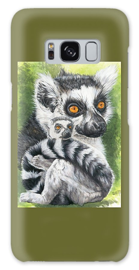 Lemur Galaxy S8 Case featuring the mixed media Wistful by Barbara Keith