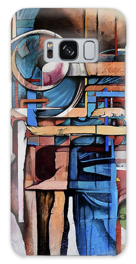 Abstract Galaxy S8 Case featuring the painting Within And Without by Zach Stelling