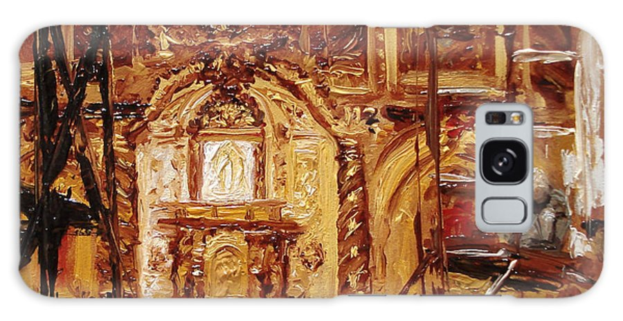 Chapel Galaxy Case featuring the painting Within The Scaffold by Barbara Andolsek