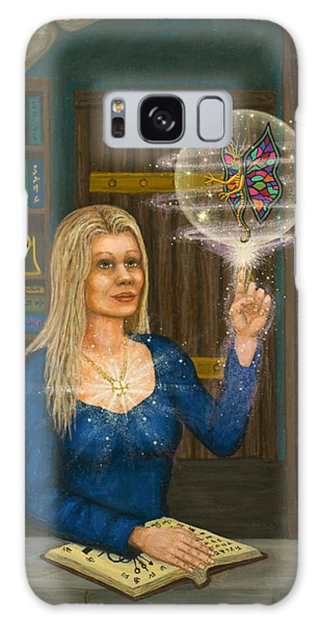 Magic Galaxy Case featuring the digital art Wizards Library by Roz Eve