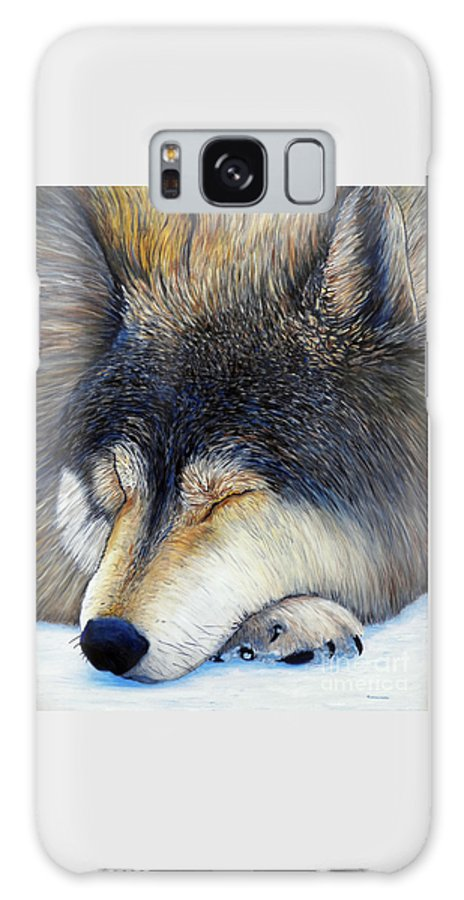 Wolf Galaxy S8 Case featuring the painting Wolf Dreams by Brian Commerford