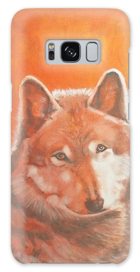 Wildlife Galaxy S8 Case featuring the painting Wolf Home Burning by Gilbert Pennison