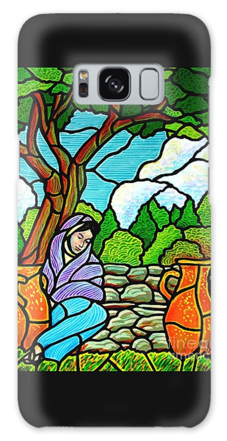 Women Galaxy S8 Case featuring the painting Woman At The Well by Jim Harris