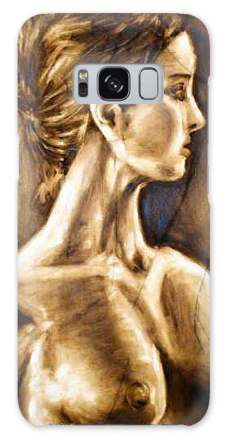 Galaxy S8 Case featuring the painting Woman by Thomas Valentine