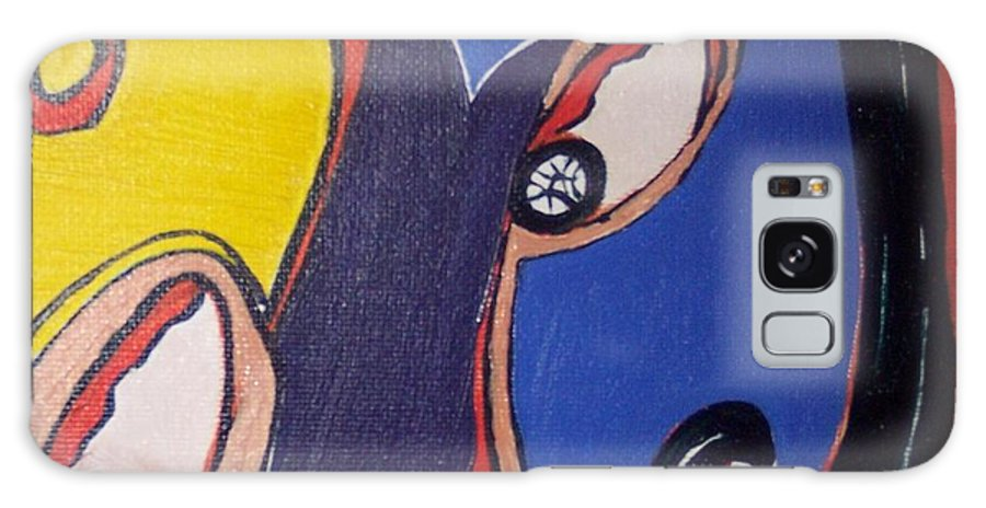 Abstract Paintings Galaxy S8 Case featuring the painting Woman30 by Seon-Jeong Kim