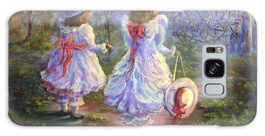 Original Oil Galaxy S8 Case featuring the painting Wonderland by Sharon Abbott-Furze