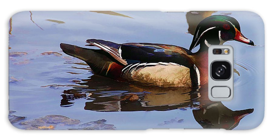 Waterfowl Galaxy S8 Case featuring the painting Wood Duck by Elaine Manley