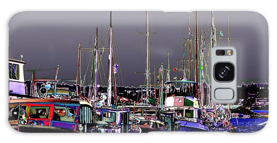 Seattle Galaxy S8 Case featuring the digital art Wooden Boats 2 by Tim Allen