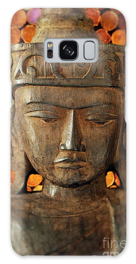 Asian Galaxy S8 Case featuring the photograph Wooden Buddha by John Greim