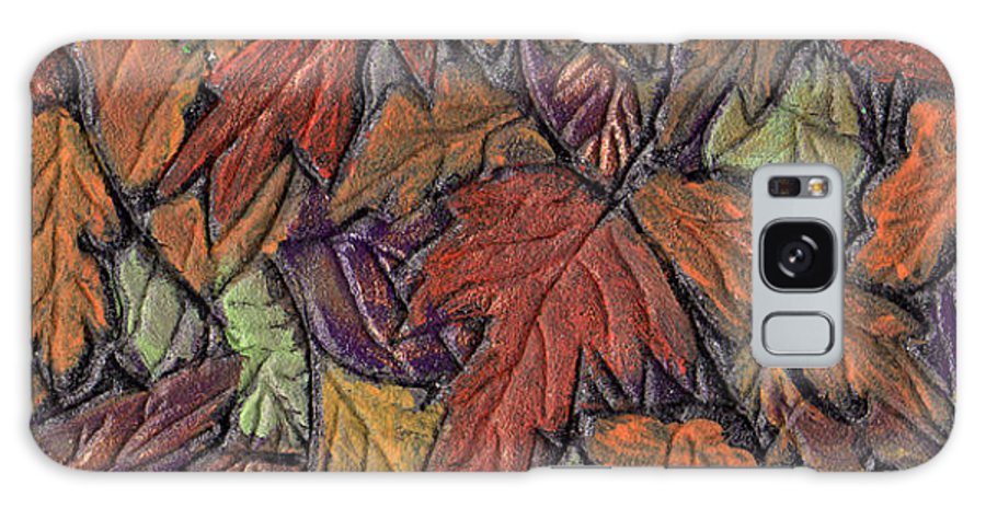 Autumn Galaxy S8 Case featuring the painting Woodland Carpet by Wayne Potrafka