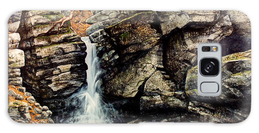 Waterfall Galaxy Case featuring the painting Woodland Falls by Frank Wilson