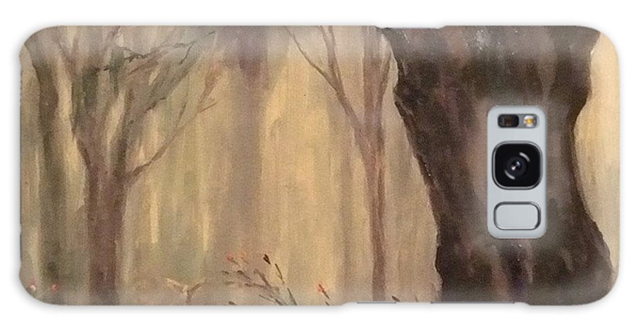 Landscape Galaxy S8 Case featuring the painting Woodland Fawn by Ruth Stromswold