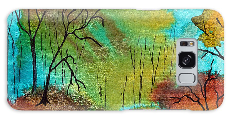 Woods Galaxy S8 Case featuring the mixed media Woodland Path by Susan Kubes