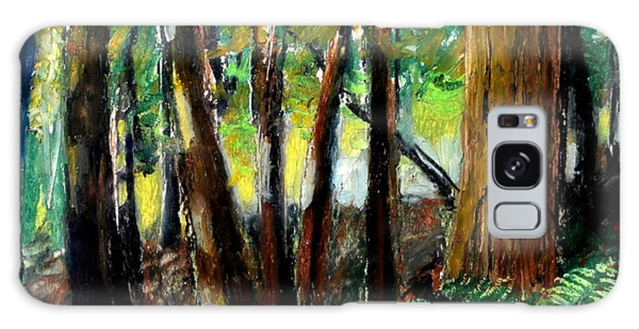 Livingston Trail Galaxy S8 Case featuring the drawing Woodland Trail by Michelle Calkins