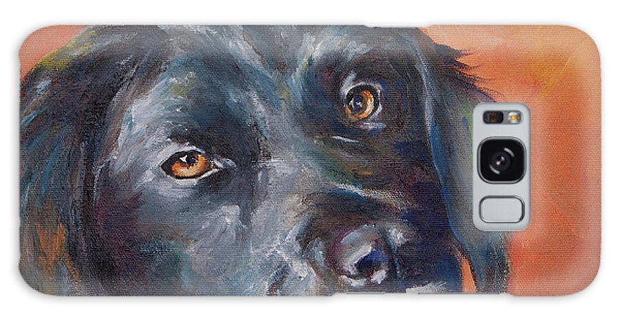 Dog Portrait Painting Galaxy S8 Case featuring the painting Woody by Julie Dalton Gourgues