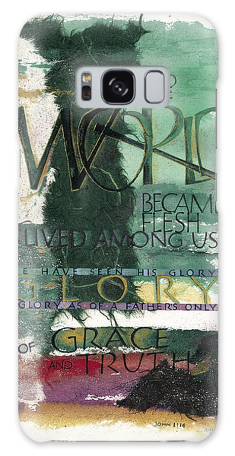 Advent Galaxy S8 Case featuring the painting Word by Judy Dodds