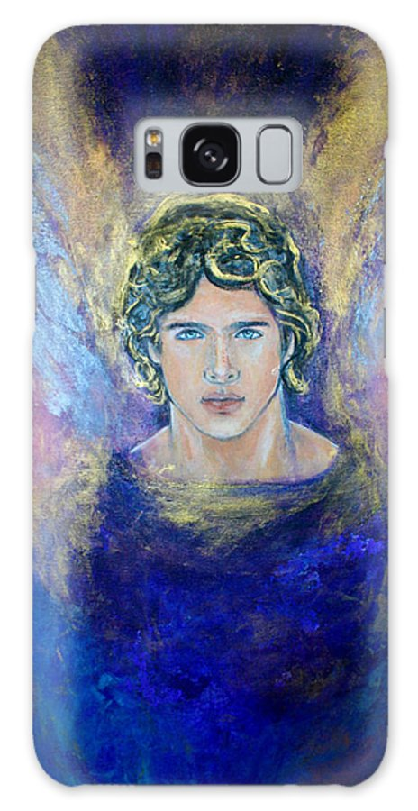 Archangel Michael Galaxy S8 Case featuring the painting Working With Archangels by Alma Yamazaki