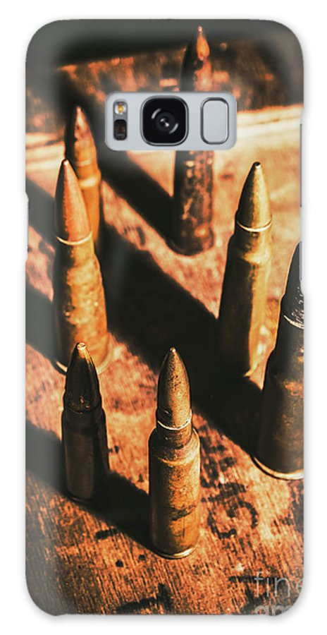 Military Galaxy S8 Case featuring the photograph World War II Ammunition by Jorgo Photography - Wall Art Gallery