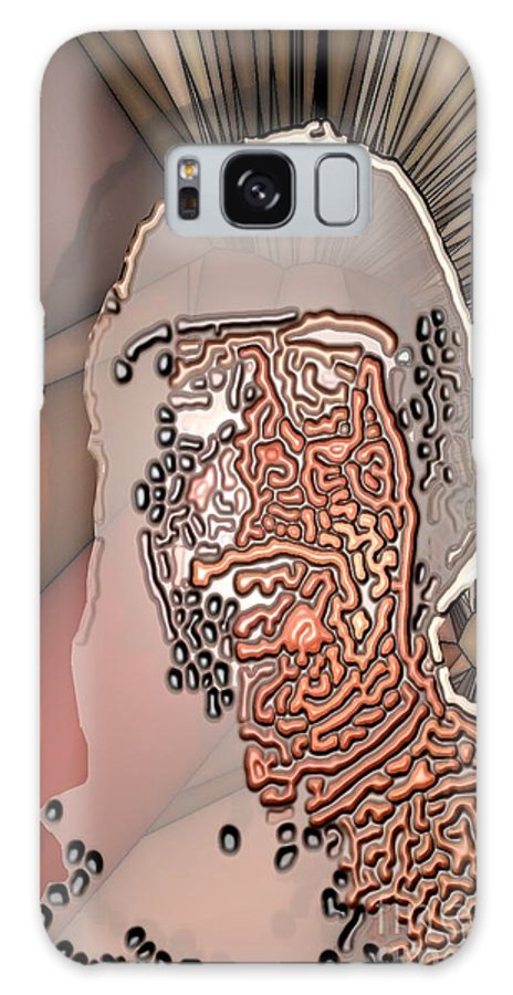 Collage Galaxy S8 Case featuring the digital art Worman by Ron Bissett