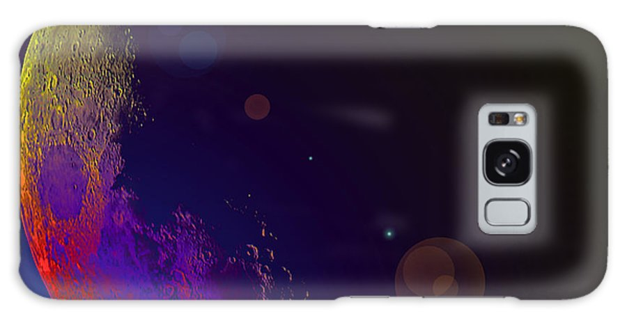 Moon Stars Planet Universe Sky Skies Lunar Outterspace Beauty Galaxy S8 Case featuring the photograph Worshiped Moon by Andrea Lawrence