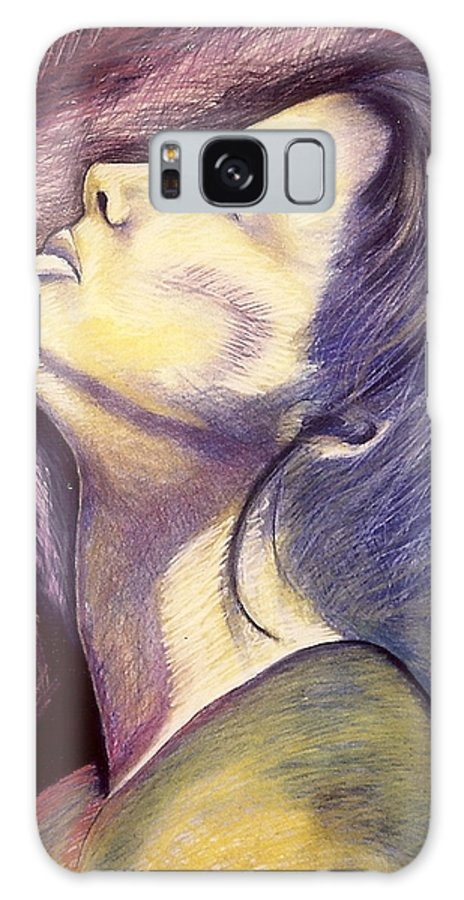 Woman In Silent Worship Galaxy S8 Case featuring the drawing Worshiper by Carrie Maurer