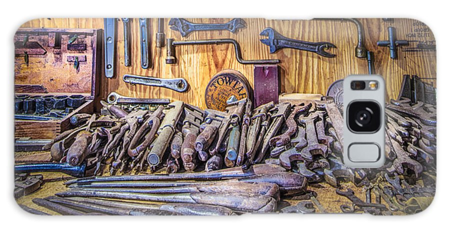 Barns Galaxy S8 Case featuring the photograph Wrenches Galore by Debra and Dave Vanderlaan