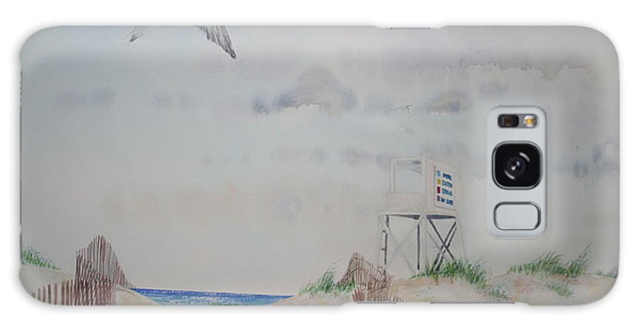 Beach Galaxy Case featuring the painting Wrightsville Beach North Carolina by Tom Harris