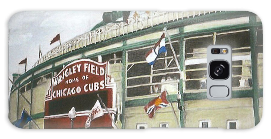 Wrigley Field Galaxy S8 Case featuring the painting Wrigley Field by Travis Day