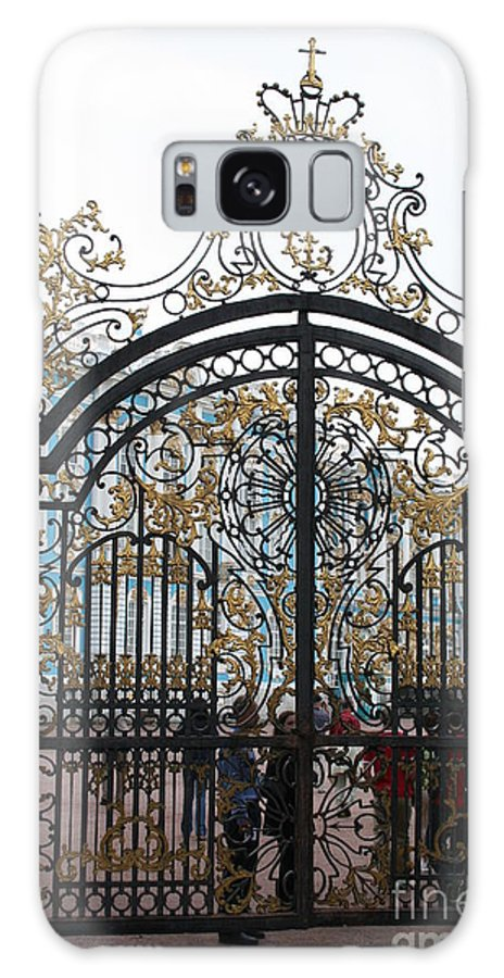 Gate Galaxy S8 Case featuring the photograph Wrought Iron Gate by Christiane Schulze Art And Photography