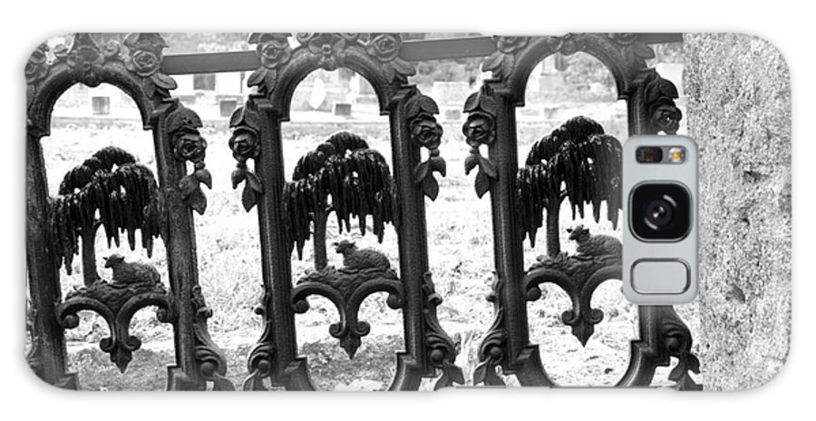 Gate Galaxy Case featuring the photograph Wrought Iron Gate -west Epping Nh Usa by Erin Paul Donovan