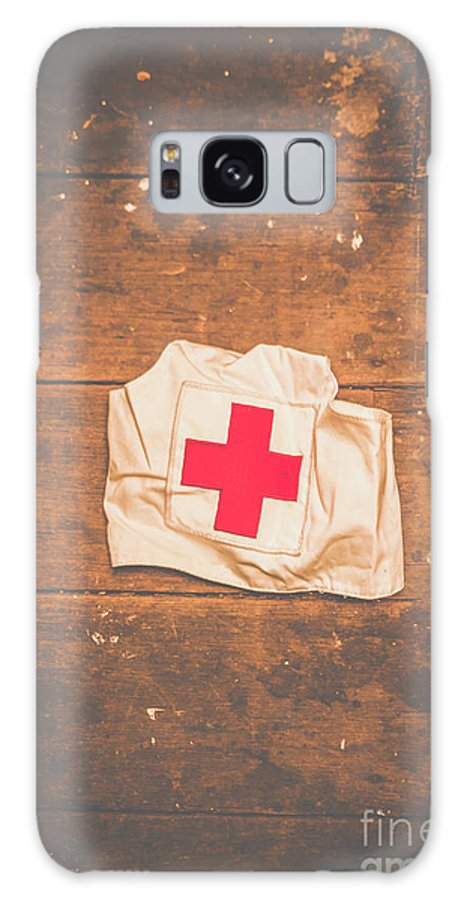 Nurse Galaxy S8 Case featuring the photograph Ww2 Nurse Cap Lying On Wooden Floor by Jorgo Photography - Wall Art Gallery
