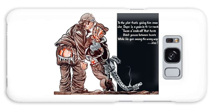 Ww2 Galaxy S8 Case featuring the painting Wwii Joe Dope Cartoon by War Is Hell Store
