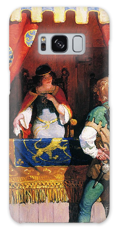 Galaxy S8 Case featuring the painting Wyeth: Robin Hood & Marian by Granger