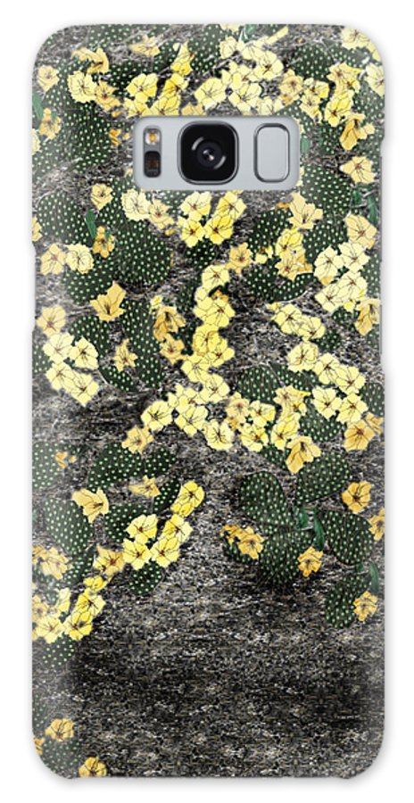 Anne Norskog Galaxy S8 Case featuring the painting Wyoming Cactus by Anne Norskog