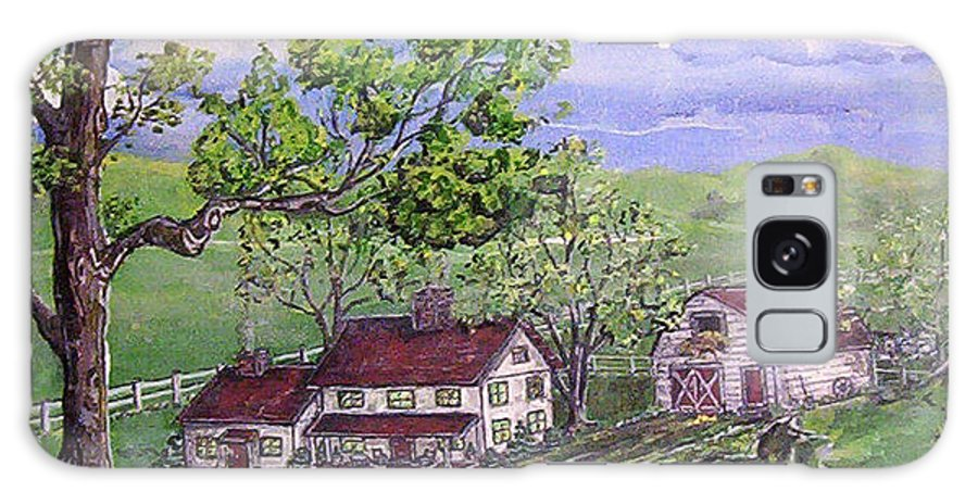 Landscape Galaxy Case featuring the painting Wyoming Homestead by Phyllis Mae Richardson Fisher