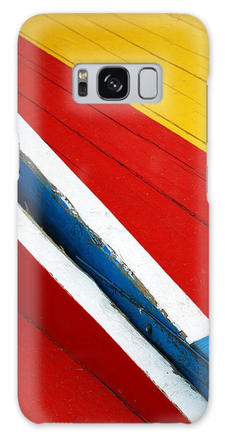 Red Galaxy Case featuring the photograph Xochimilco Boat Abstract 1 by Skip Hunt