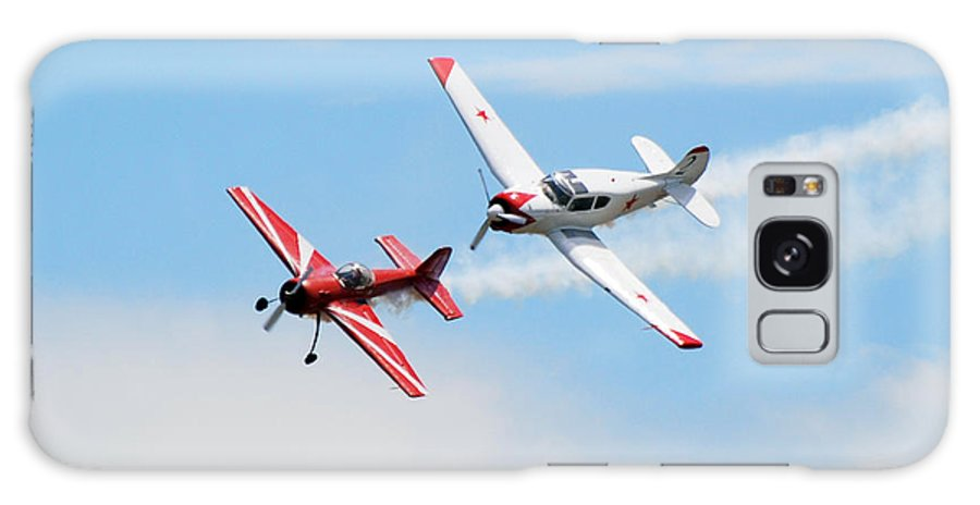 Airplanes Galaxy S8 Case featuring the photograph Yak 55 And Yak 18 by Larry Keahey