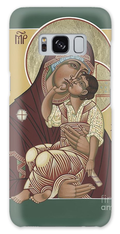Yakhrom Icon Of The Mother Of God Galaxy S8 Case featuring the painting Yakhrom Icon Of The Mother Of God 258 by William Hart McNichols