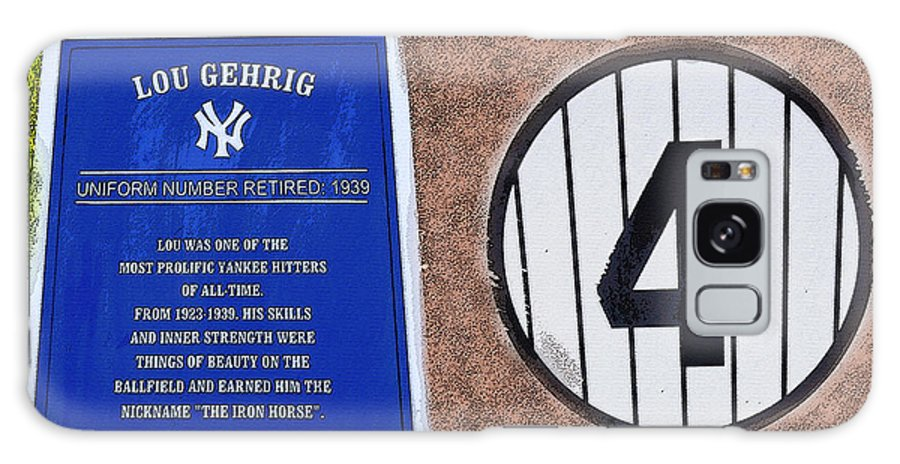 Art Galaxy S8 Case featuring the painting Yankee Legends Number 4 by David Lee Thompson