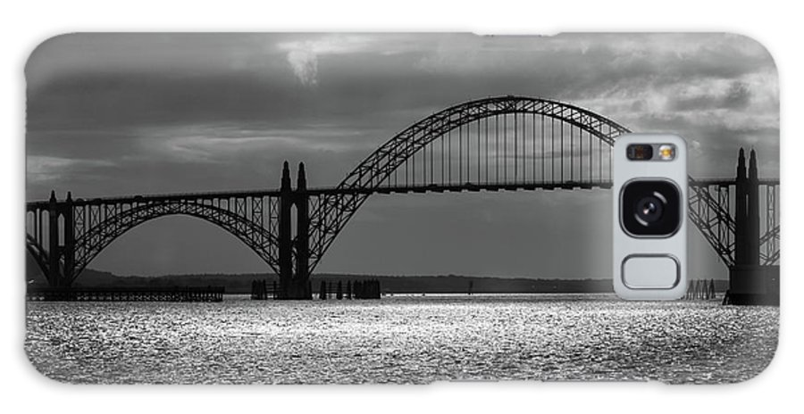 Yaquina Bay Bridge Galaxy S8 Case featuring the photograph Yaquina Bay Bridge Black And White by James Eddy