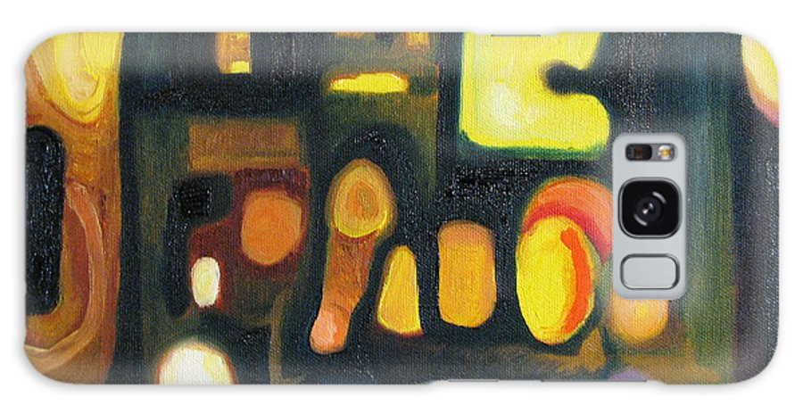 Abstract Galaxy Case featuring the painting Yellow And Blue by Patricia Arroyo
