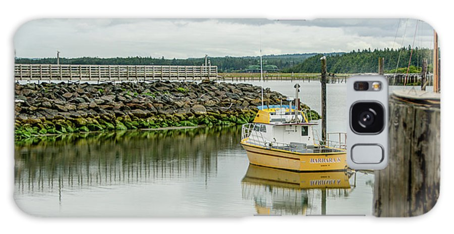 Bandon Galaxy S8 Case featuring the photograph Yellow Boat by Joan Baker