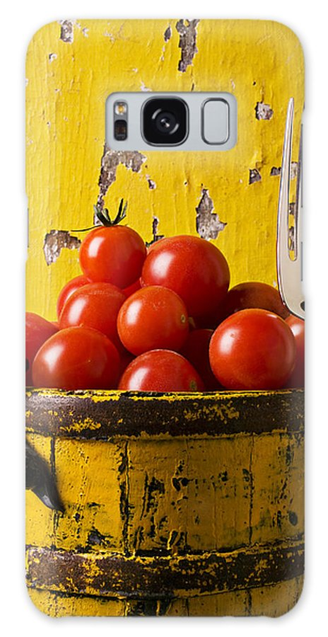 Cherry Galaxy S8 Case featuring the photograph Yellow Bucket With Tomatoes by Garry Gay