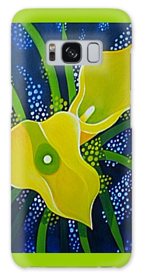 Lily Galaxy S8 Case featuring the painting Yellow Callas by Helena Tiainen