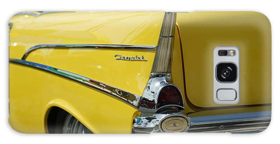 Car Galaxy S8 Case featuring the photograph Yellow Chevrolet Tail Fin by Jill Reger