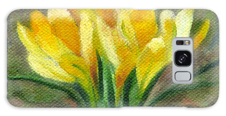 Crocus Galaxy S8 Case featuring the painting Yellow Crocus by FT McKinstry