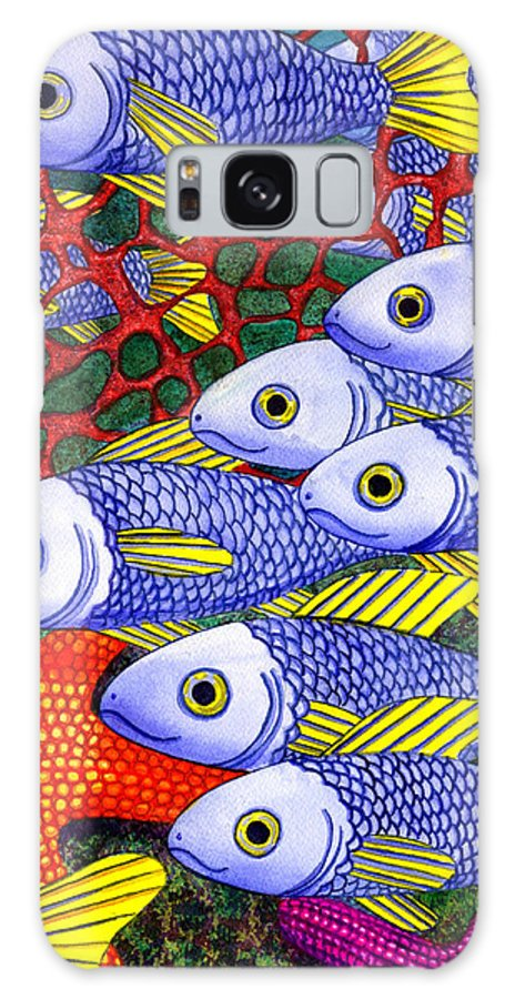 Fish Galaxy S8 Case featuring the painting Yellow Fins by Catherine G McElroy