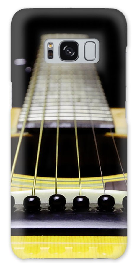 Andee Design Guitar Galaxy S8 Case featuring the photograph Yellow Guitar 17 by Andee Design
