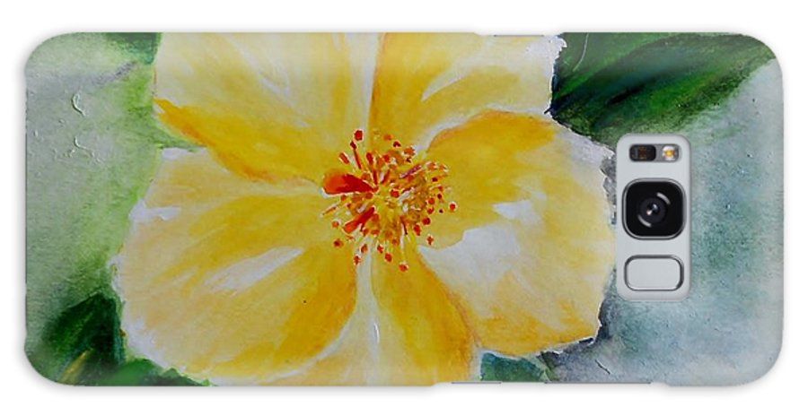 Flower Galaxy S8 Case featuring the painting Yellow Hibiscus by Jamie Frier
