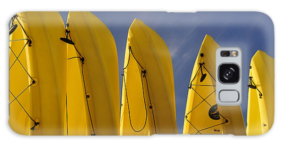 Fine Art Photography Galaxy S8 Case featuring the photograph Yellow Kayaks by David Lee Thompson